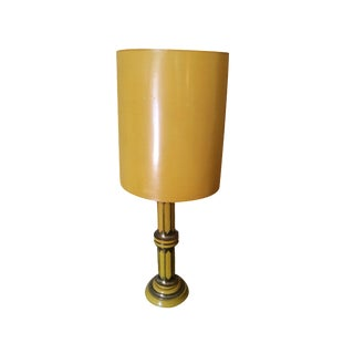 Vintage Yellow Art Deco Lamp For Sale