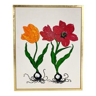 "John O'Hara. Botanical, B1. 51.5x63.5"" Encaustic Painting For Sale"