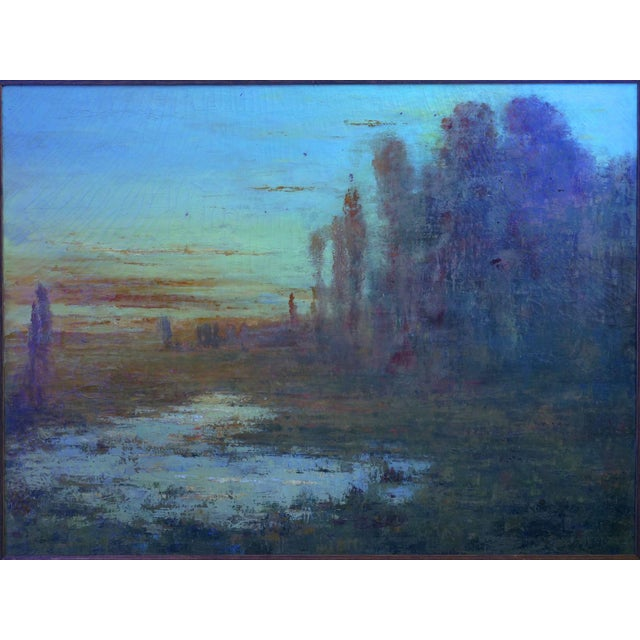 """September Harmony"" (1910) Tonalist Painting Oil on Canvas by Karl Emil Termöhlen For Sale - Image 12 of 13"