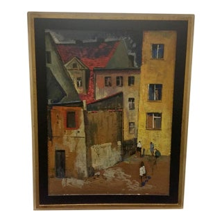 1968 Munteanu Gheorghe Oil Painting For Sale