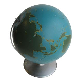 1940's Vintage A.J. Nystrom & Co American Original Aviation World Globe For Sale