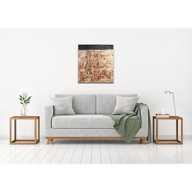 Abstract oil painting on canvas. Signed by artist. Framed and ready to hang. Framed Dimensions: 32.5 x 30.5. ABOUT ARTIST:...
