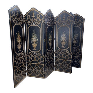 Late 20th Century 6 Panel Screen Room Divider For Sale