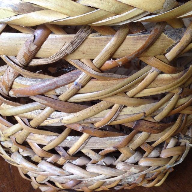 Large Vintage Rattan Planter Basket - Image 7 of 11