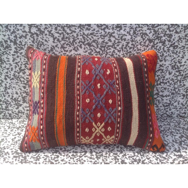 Turkish Kilim Pillow Cover - Image 2 of 6