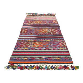 "Vintage Turkish Kilim Rug-2'2'x4'2"" For Sale"