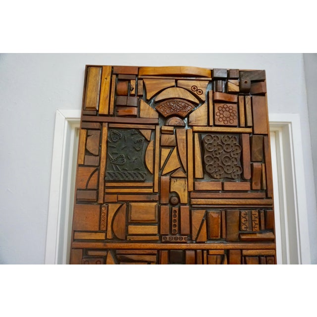 Abstract Mabel Hutchinson Abstract Wood Sculpture For Sale - Image 3 of 9