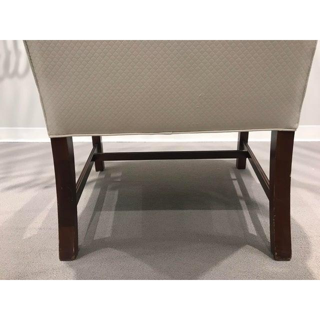 White Kravet Mark Hampton Side Chair For Sale - Image 8 of 12