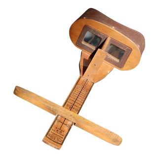 Antique Stereoscope Slide Viewer For Sale