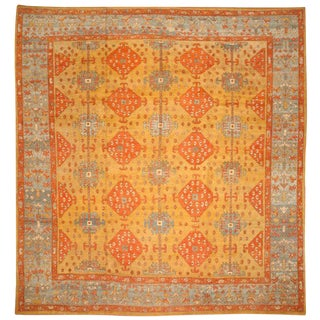 Vintage Oushak Carpet For Sale