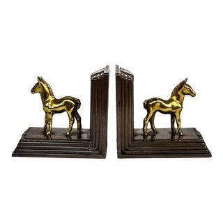 Art Deco Horse Bookends - a Pair For Sale
