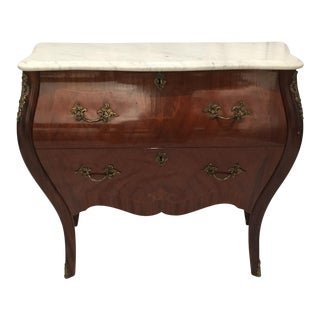 20th Century French Louis XVI Marble Top Bombe Chest For Sale