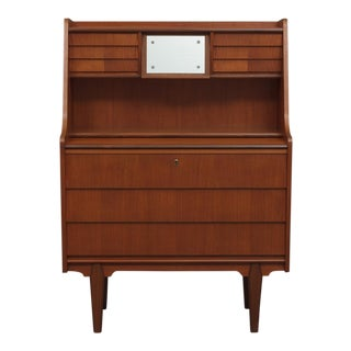 Teak Secretaire With Vanity For Sale