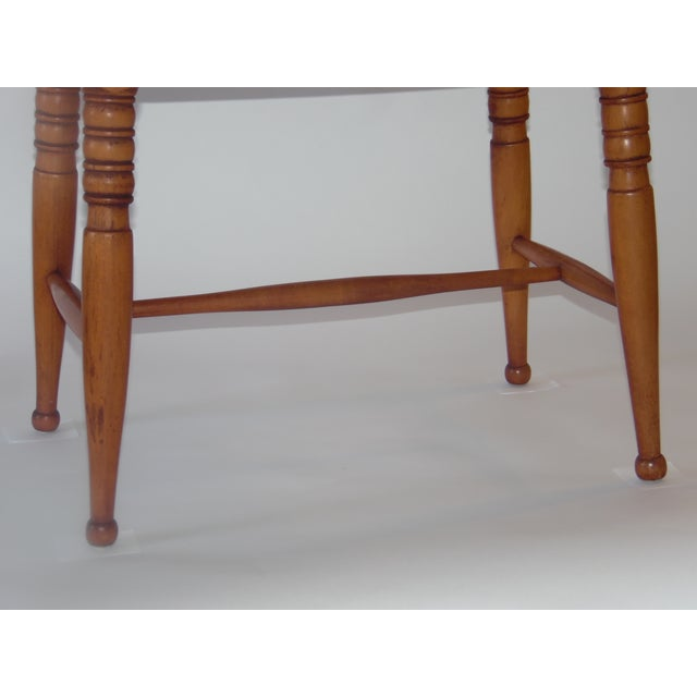 Mid- Century Wood Light Brown Color Bench - Image 5 of 11