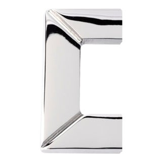 Polished Nickel Half Obi Pull - Small For Sale