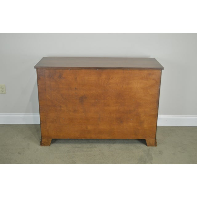 Regency Style Custom Quality Tambour Door Chest For Sale - Image 4 of 13