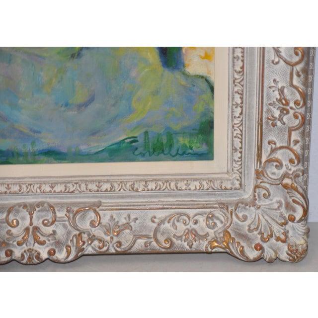 "1950s Luigi Corbellini (1901-1968) ""The White Horse"" Original Oil Painting C.1950s For Sale - Image 5 of 10"