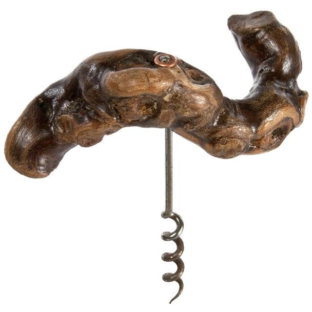 Vintage French Grapevine Corkscrew For Sale