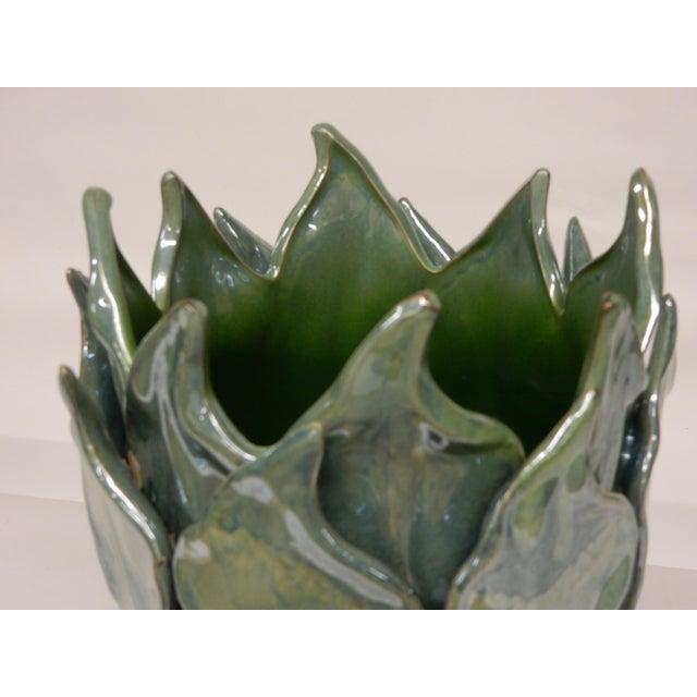 Contemporary Contemporary Italian Art Ceramic Vase For Sale - Image 3 of 5