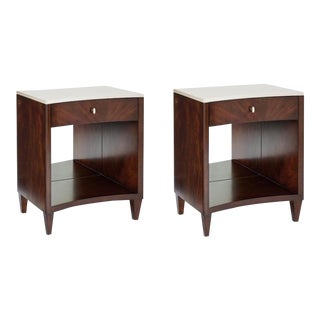 Caracole Modern Light Up My Life Nightstands - A Pair For Sale