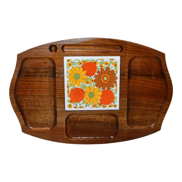 Vintage Gailcraft Wooden Cheeseboard For Sale