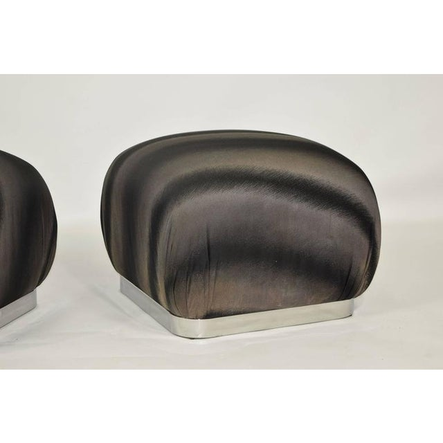 Pair of Souffle Poufs by Weiman - Image 7 of 8