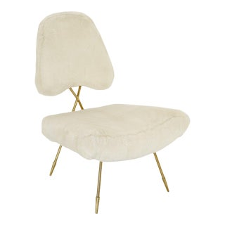 Jonathan Adler Maxime White Lounge Chair For Sale