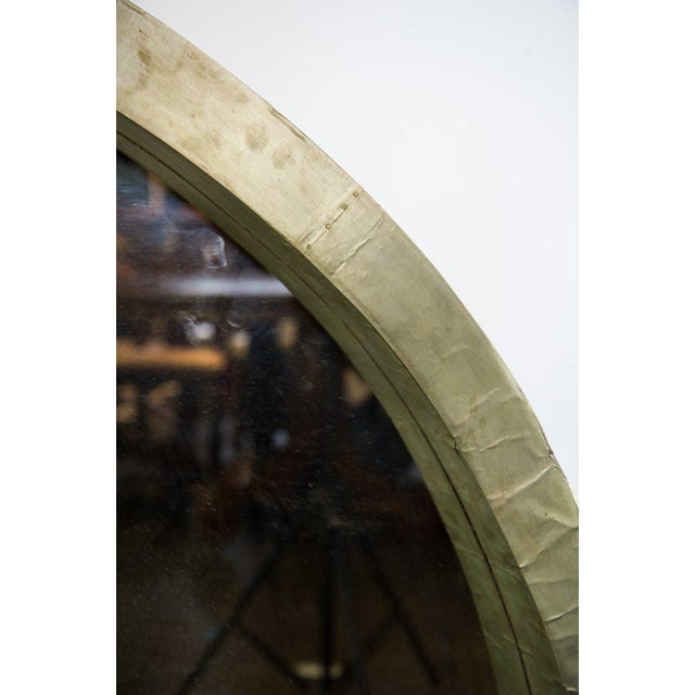 Mid-Century Modern Round Mantle Mirror For Sale - Image 5 of 9