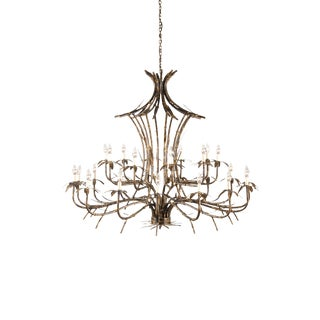 Wildwood Bronze Bamboo Chandelier For Sale