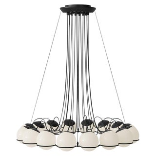 Gino Sarfatti Black Chandelier For Sale