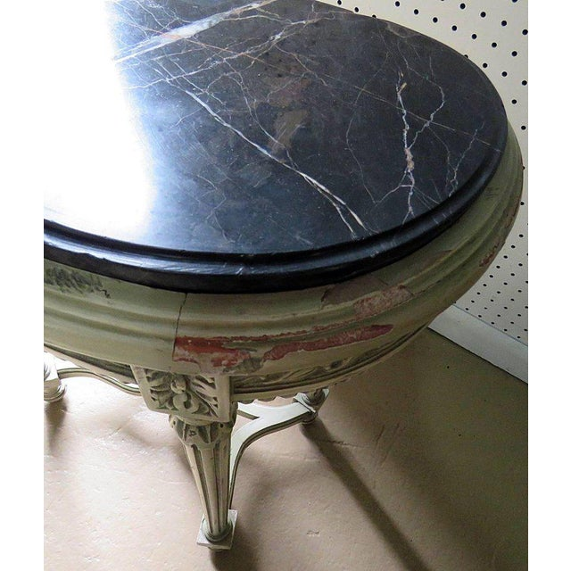 Early 20th Century Pair of Petite Demilune Consoles For Sale - Image 5 of 12