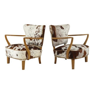 Danish Lounge Chairs by S Thrane & Søn - a Pair For Sale