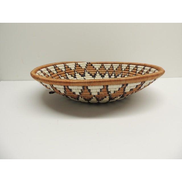 Vintage Round African Basket - Image 3 of 4