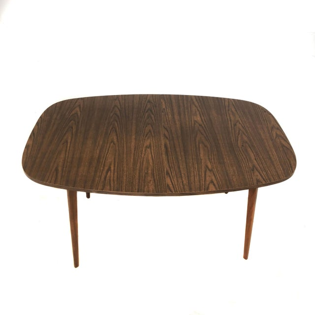 Brown Mid Century Modern Mel Smilow Dining Table With Two Leaves For Sale - Image 8 of 9