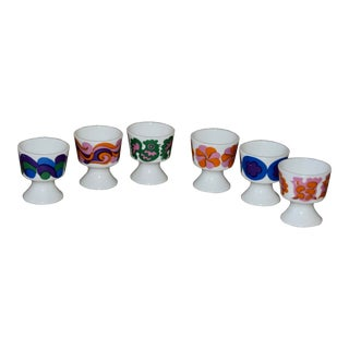Mid-Century Arabia Finland Egg Cups - Set of 6 For Sale