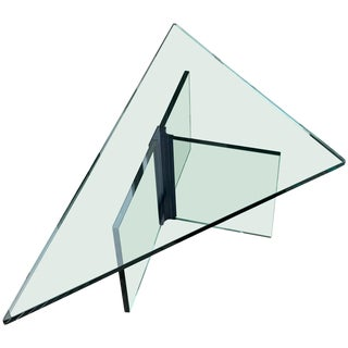 Triangular Glass Coffee Table For Sale
