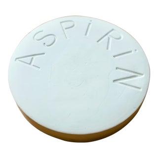 Vintage Mid Century Plaster Aspirin Paperweight For Sale