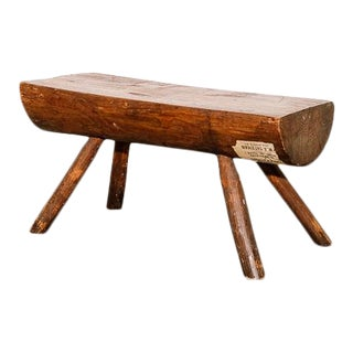 Early American Primitive Footstool For Sale