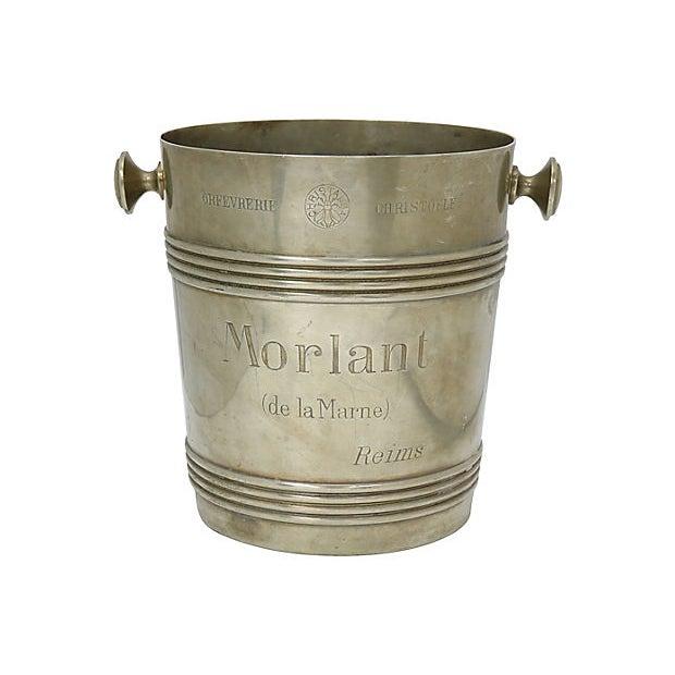 Metal Rare 1940s Christofle Morlant Bistro Champagne Bucket For Sale - Image 7 of 7