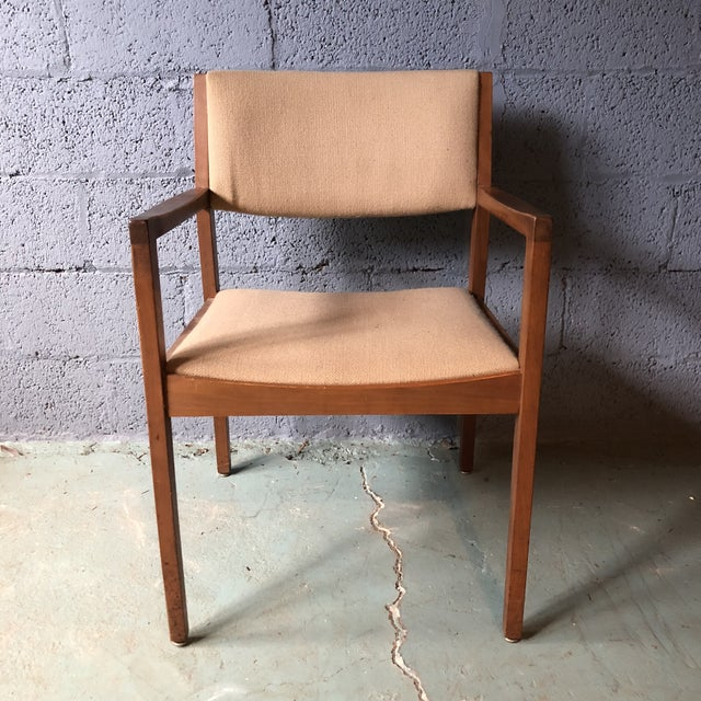 Contemporary Mid Century Modern Walnut Dining Armchairs- Set of 6 For Sale - Image 3 of 13