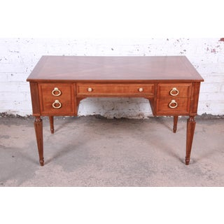 Kindel Furniture French Regency Cherry Wood Writing Desk, Newly Restored Preview