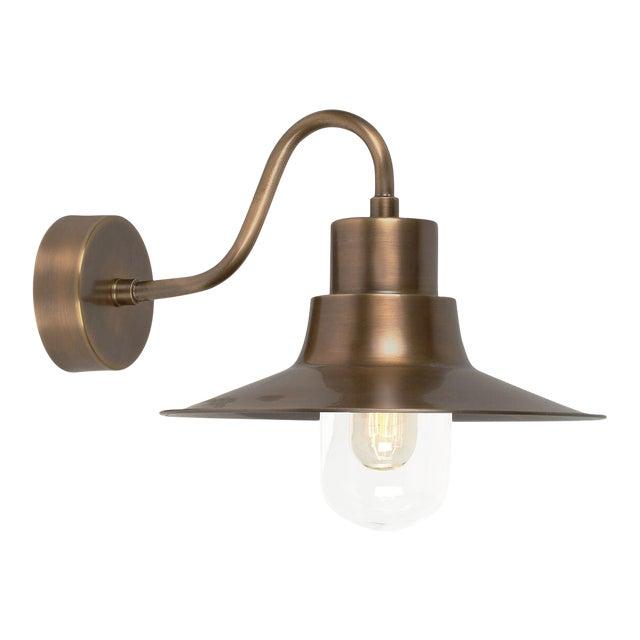 Sheldon Brass Wall Lantern For Sale