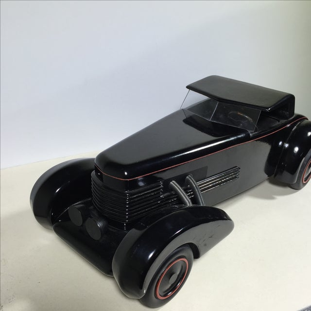 Cord 1930 Limited Edition Wood Model Car For Sale - Image 4 of 10