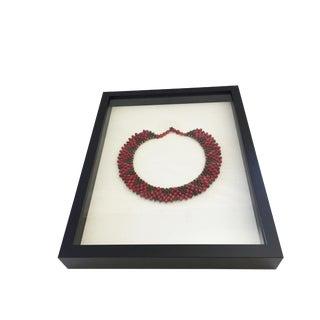 Fulni-O Amazonian Indigenous Ceremonial Necklace Framed For Sale