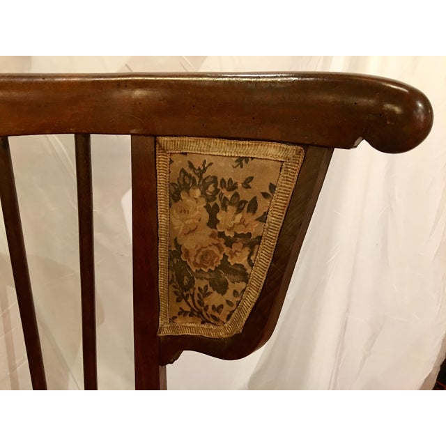 Austrian Walnut Barrel Back Wing Chair For Sale - Image 4 of 9