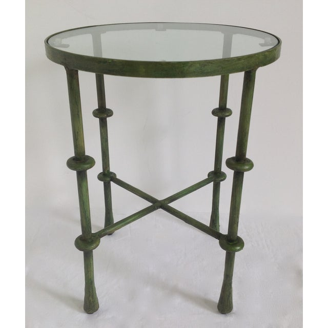 Giacometti-Style Forged Round End Table - Image 3 of 11