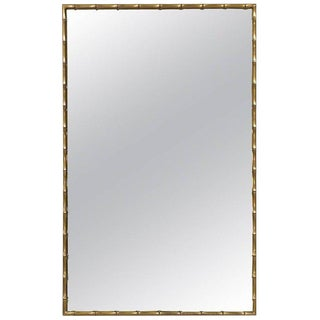 1970s Mastercraft Brass Faux Bamboo Mirror For Sale