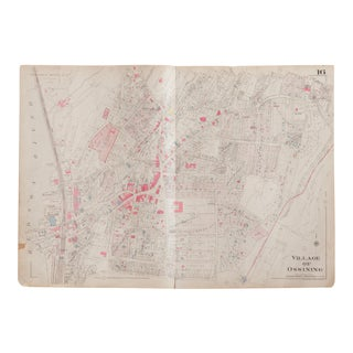 Vintage 1930s Hopkins Map of Village of Ossining