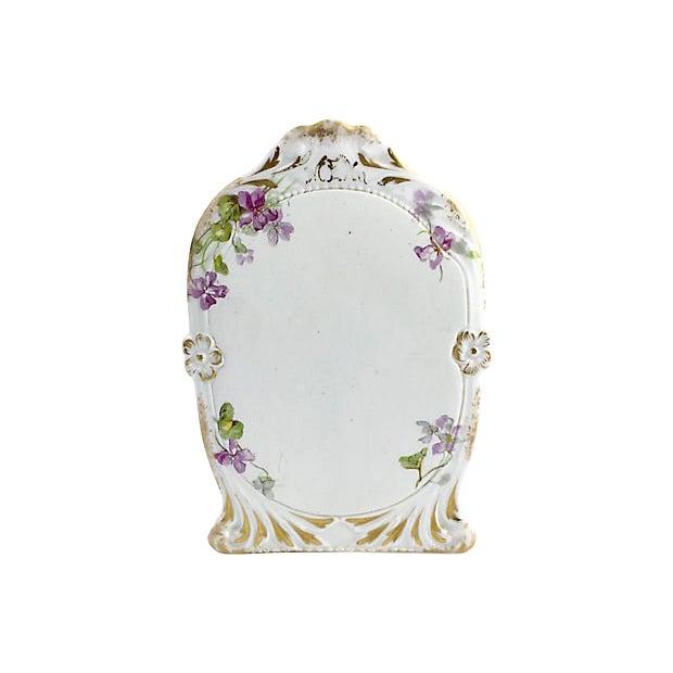 Antique Limoges Purple Floral Gilt Menu For Sale