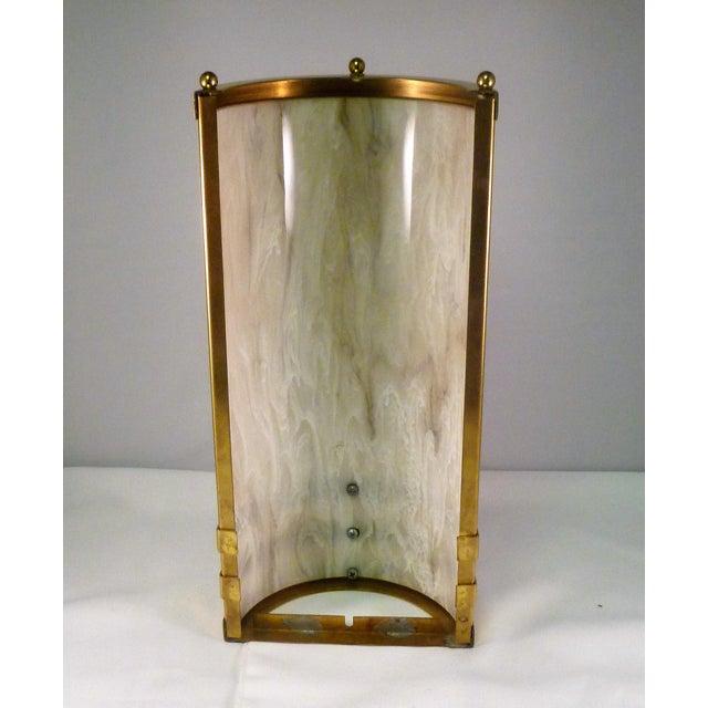 1990s Baldinger Architectural Lighting Half Cylinder Sconce For Sale - Image 4 of 8